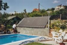 Napkollektoros medence fűtés