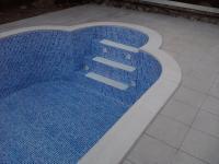 Meglévő medencék fóliázása, mintás fóliával